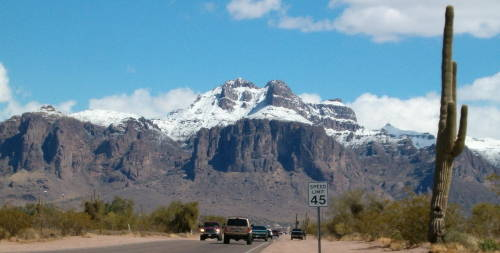 Snow on Superstitions